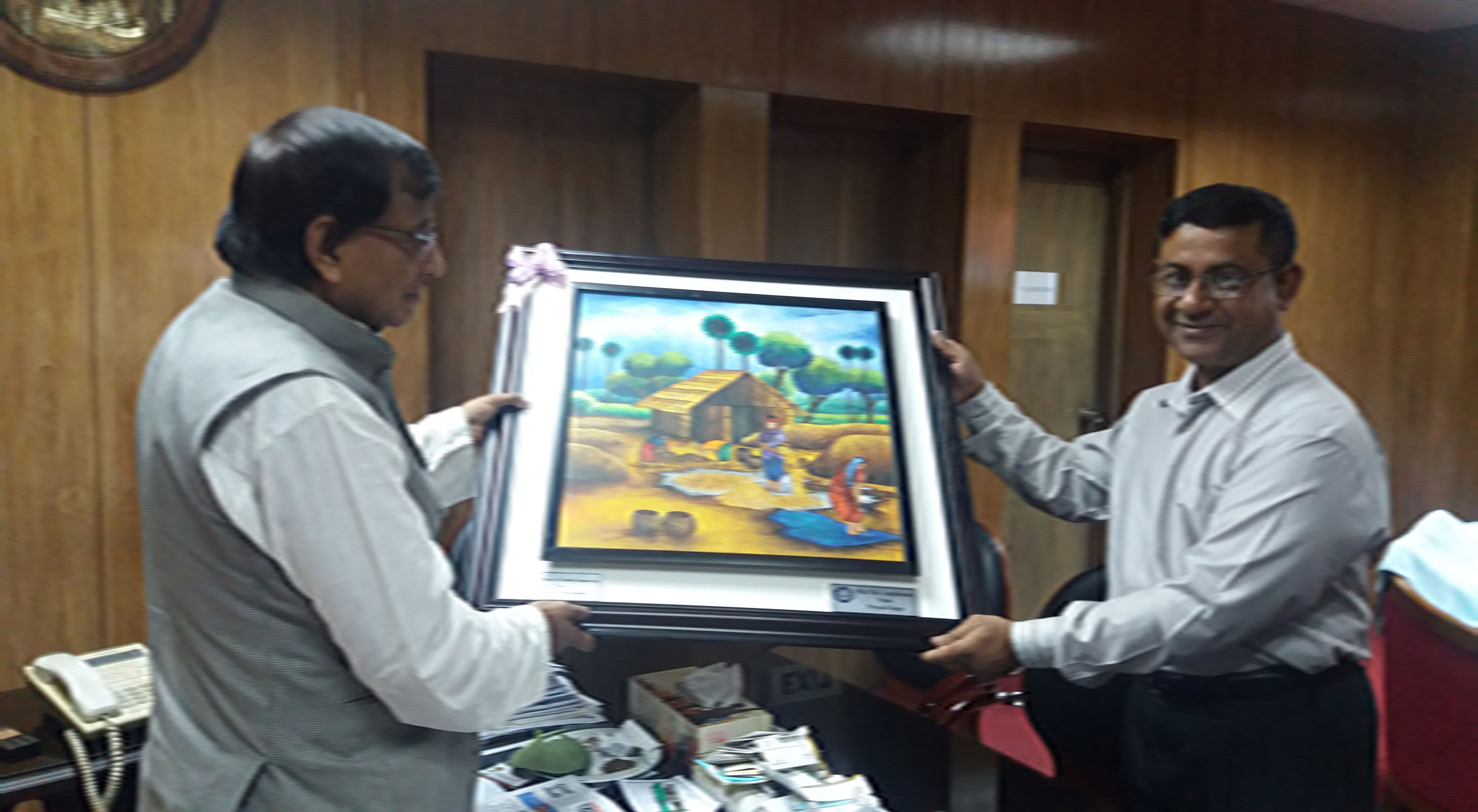 Presenting pic to social wefare minister-1